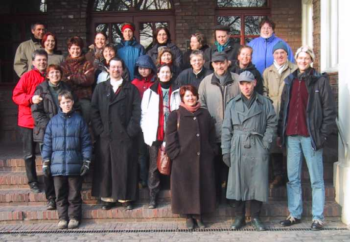 Participants of the Annual Meeting of Future Workshops before mounting the blast furnace (late shift on Saturday)